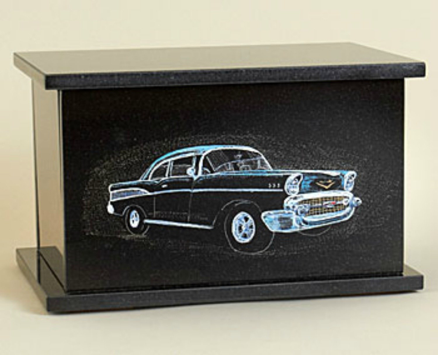 Granite Cremation Urn, 57 Chevy, Made In Vermont
