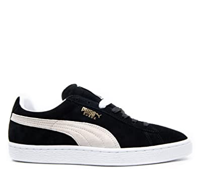 Puma Suede Classic 352634 03 Womens Laced Suede Trainers Black White - 3