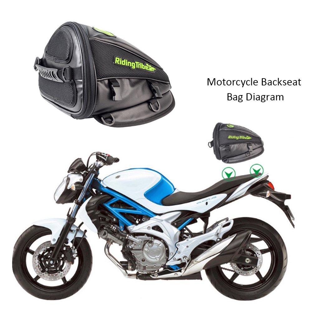 4 Liter Kapazit/ät Enjoyall Hecktasche f/ür Motorrad Schwarz Motorrad R/ückentasche Aufbewahrungstasche f/ür Honda Yamaha Suzuki Kawasaki Harley Wasserdichte Motorrad Tasche