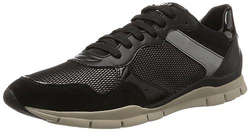 Geox D Airell C, Zapatillas para Mujer, Negro (Black), 36 EU