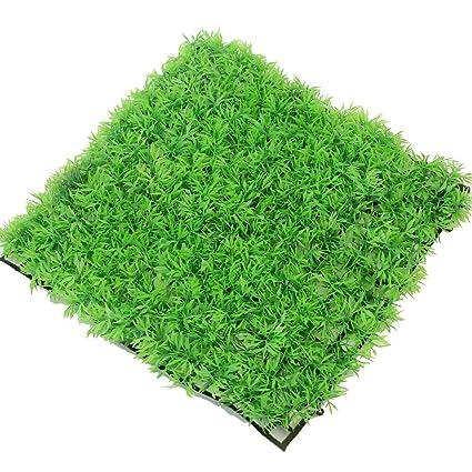 Artificial Aquarium Fish Tank Plastic Green Grass Lawn Decoration Ornament New