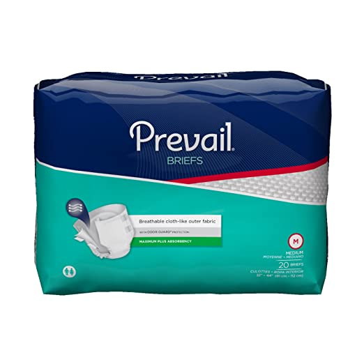 Amazon.com: Prevail Adult Briefs Medium Heavy Absorbency (Pack of 20) Breathable Rapid Absorption Discreet Comfort Fit Adult Diapers: Health & Personal Care