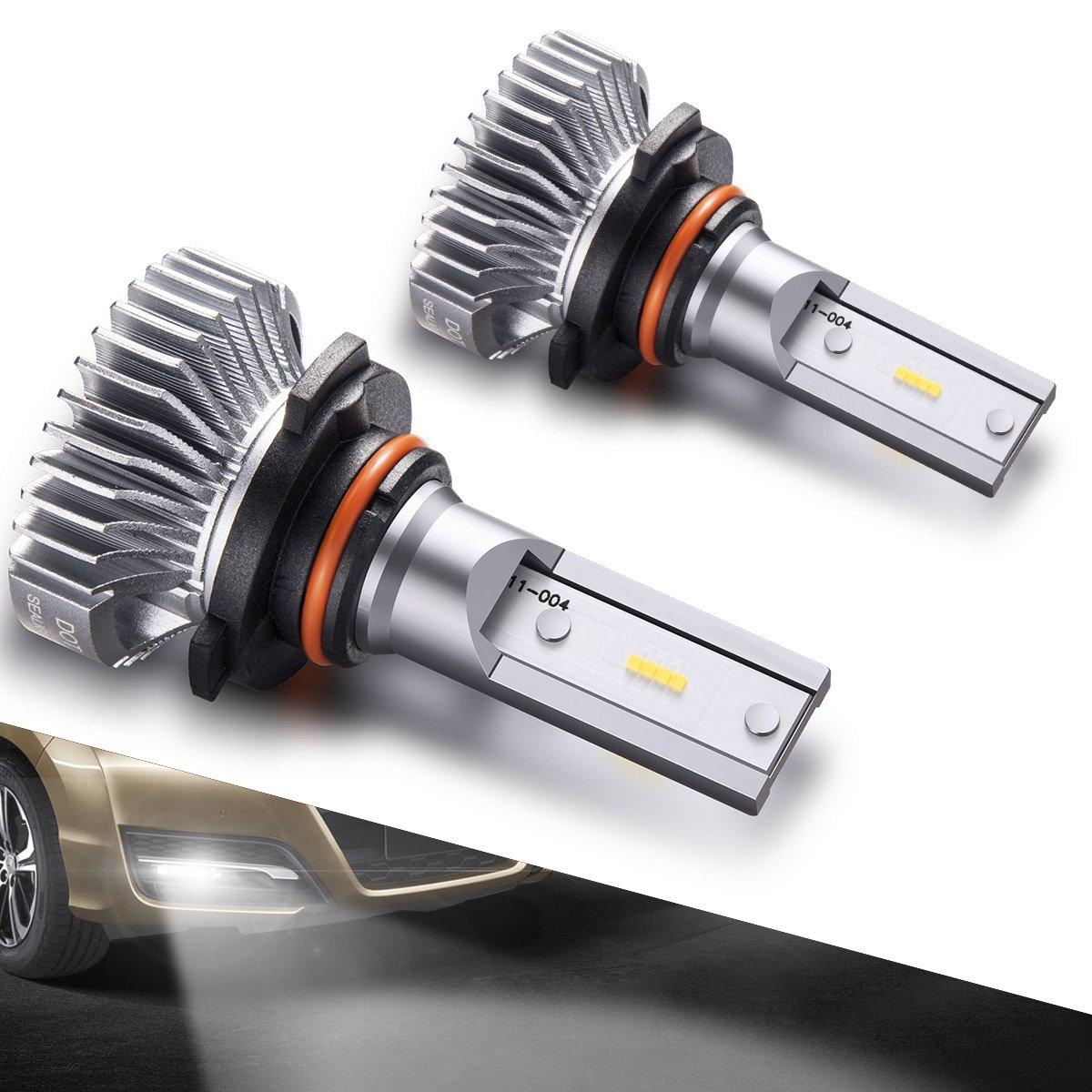 SEALIGHT 9145/9140/9045/9040 LED Fog Lights Bulbs DOT Approved Cool Xenon White 4000 Lumen 6000K Upgrade Extremely Bright Polarity Sensitive (2 Pack)