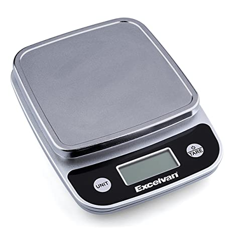 Excelvan ck777 Digital báscula de cocina precisa para cocinar y hornear escala, gris plata