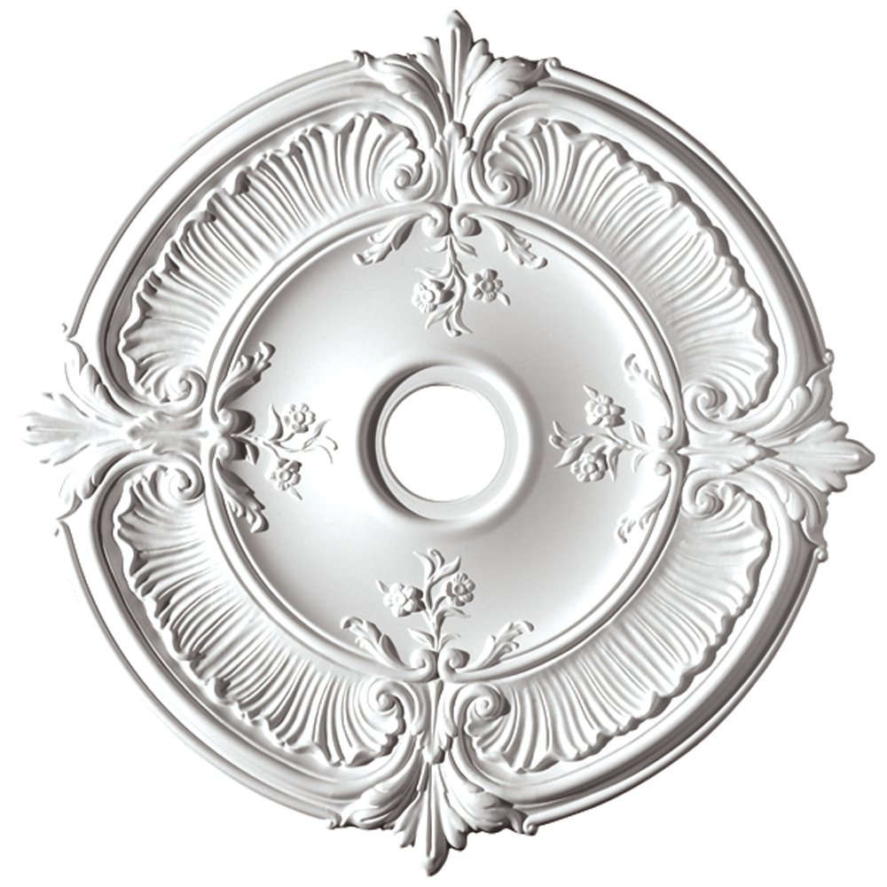 Focal Point 81041 41-Inch Acanthus Medallion 41-Inch by 41-Inch by 3/4-Inch, Primed White