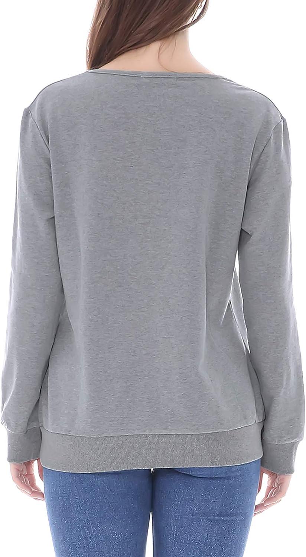 Smallshow Damen Schwangerschaft Stillkleidung Langarm Sweatshirt mit Rei/ßverschluss