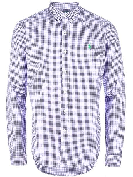 Polo Ralph Lauren Camisas Uomo Classic Fit (l, Purple): Amazon.es ...
