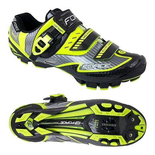 Force - Zapatillas de ciclismo de Material Sintético para hombre, color amarillo, talla 40: Amazon.es: Zapatos y complementos