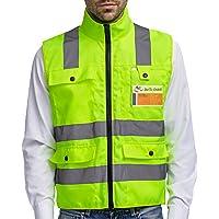 Chaleco reflectante profesional de seguridad, con neon amarillo