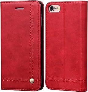 iPhone 6S Plus Case iPhone 6 Plus Case, SINIANL Leather Wallet Case Magnetic Closure with Kikstand & Card Slot Flip Cover for iPhone 6 Plus / 6S Plus