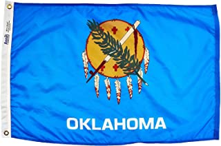 product image for Annin Flagmakers Model 144350 Oklahoma Flag Nylon SolarGuard NYL-Glo, 2x3 ft, 100% Made in USA to Official State Design Specifications