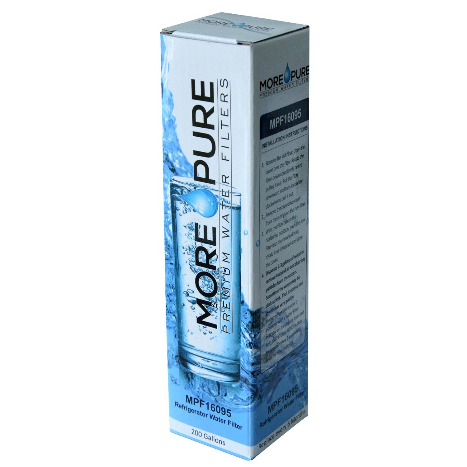 MORE Pure MPF16095 Refrigerator Water Filter Compatible with LG LT800P and Kenmore 46-9460 by MORE Pure Filters (Image #8)