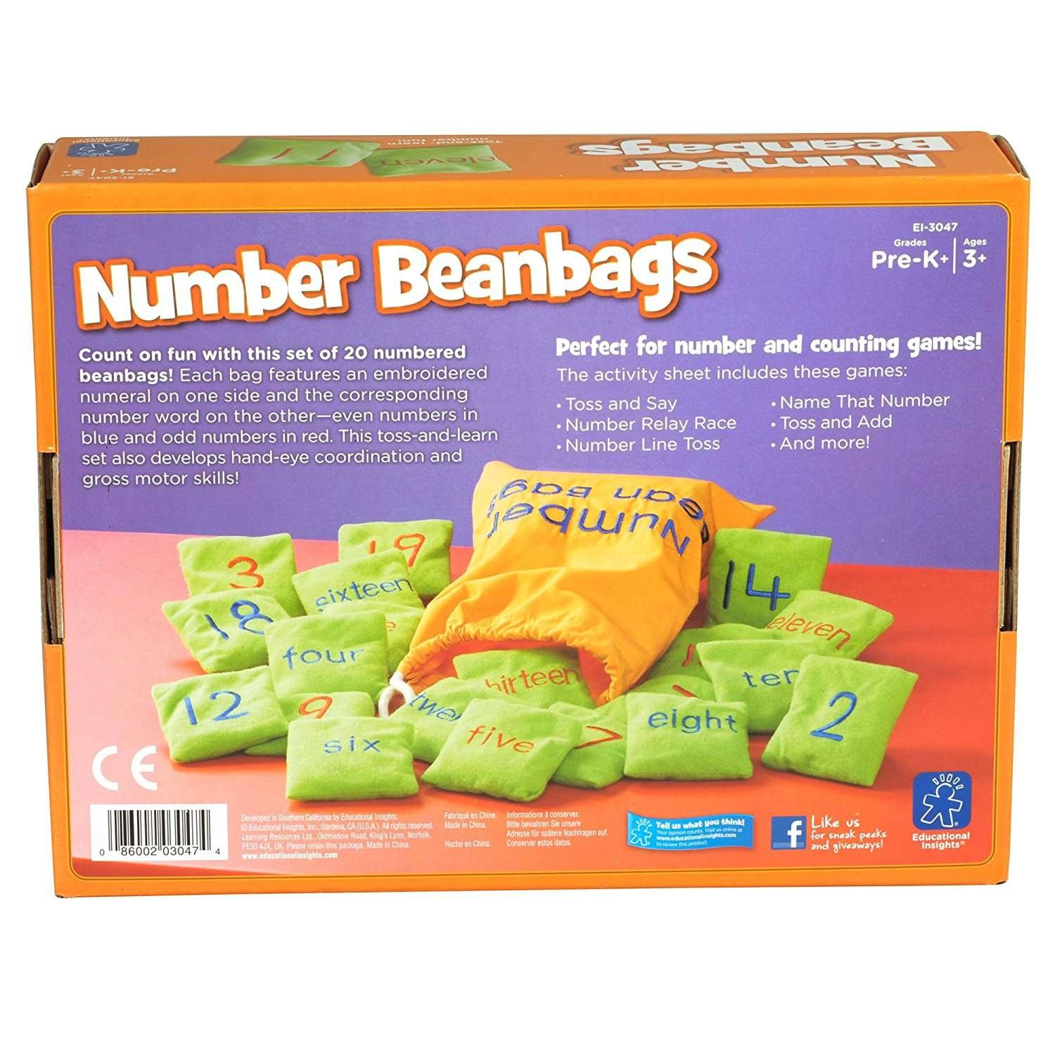 Educational Insights Number Bean Bags 3047