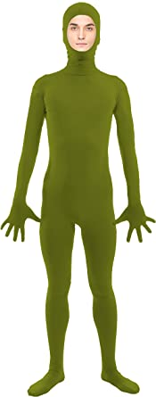 VSVO Spandex Open Face Full Bodysuit Zentai Suit for Adults and Kids