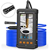 Oiiwak Inspection Camera Dual-Lens Automotive Plumbing Industrial Endoscope-Borescope with 4.3inch Screen 1080P HD Waterproof