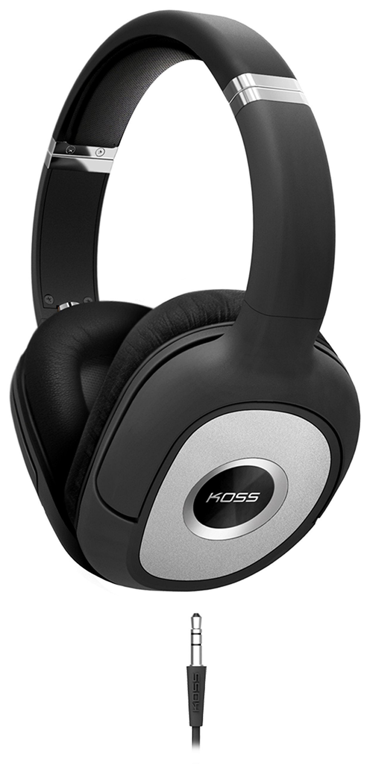 Koss SP540 Full Size Dynamic Headphones, Black with Silver Accents