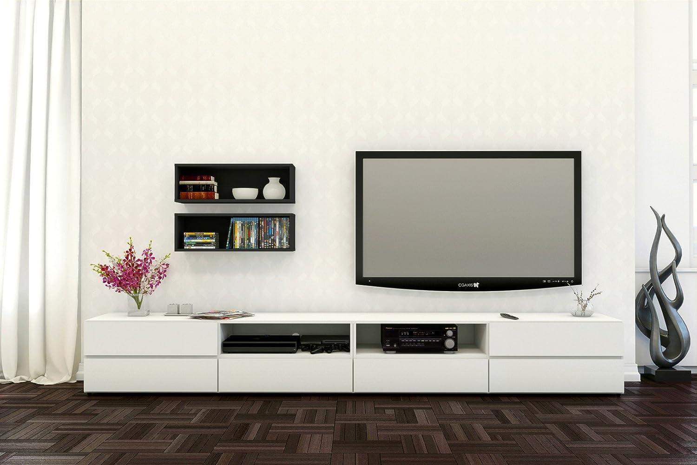 Amazon.com: Nexera 60-inch TV Stand 223103, White: Kitchen & Dining
