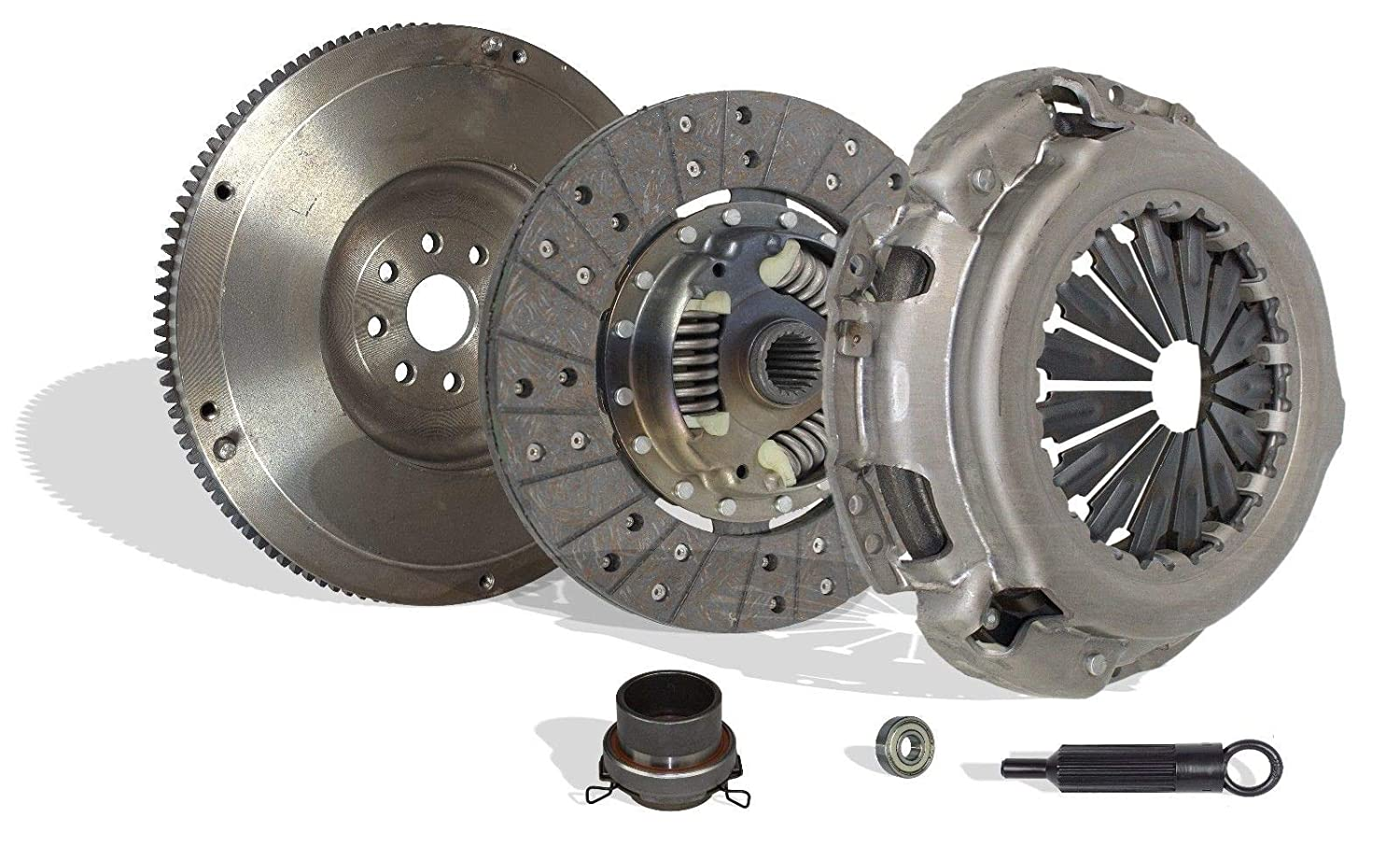 Clutch With Flywheel Kit Works With Toyota Tundra T100 Tacoma 4Runner Base Pre Runner Sr5 Dlx S-runner Limited 1995-2004 3.4L 3378CC V6 GAS DOHC Naturally ...