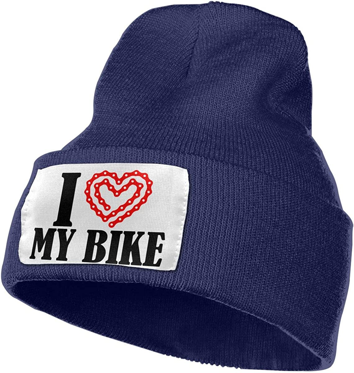 I Love My Bike 1 Women and Men Skull Caps Winter Warm Stretchy Knit Beanie Hats