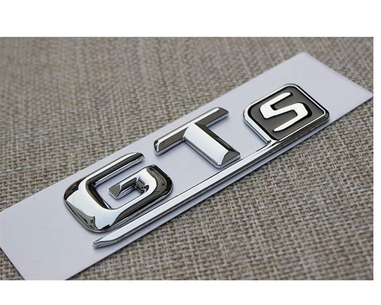 DGF HGF Chrome GTS Lettres Voiture Coffre Badge embl/ème Autocollant AMG GT Sport GTS