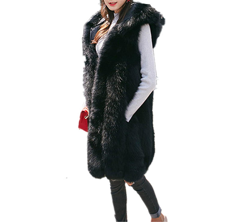 Longra Chaleco De Piel Sintetica, Escudo Mujeres Chaleco sin Mangas Prendas de Abrigo de Pelo Largo Chaleco Outwear: Amazon.es: Ropa y accesorios
