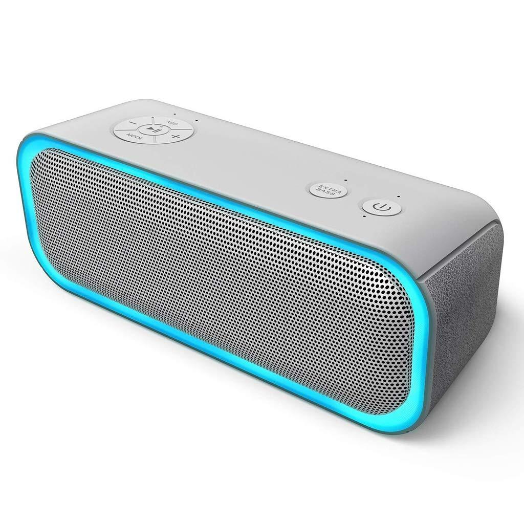 最も完璧な Zmsdt ポータブルBluetoothスピーカー 20Wスピーカー 360°スピーカー 低音強化 複数のLEDライト Bluetoothスピーカー, ホワイト, ZMSDT-HL-627  ホワイト B07KQ41W48, イワミチョウ ed4eb0c2