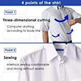 DRESSCODE101 Dress Shirts for Men Short Sleeve 100% Cotton Non Iron Japanese Products
