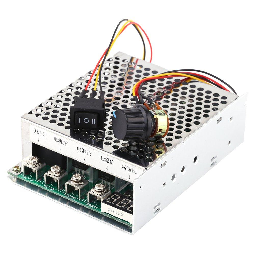 DC Speed Controller Reversible DC 10V 48V 55V 60A Adjustable Motor Driver Module with Digital Display Walfront
