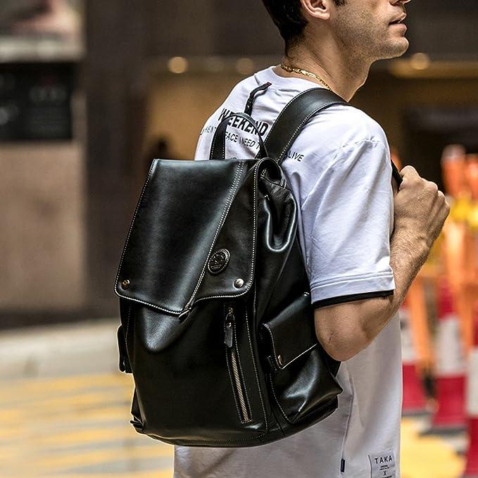 C/&Q CQ Fashionable High-Capacity Backpack Male Korean Version Travelling Bag Fashionable Leisure Student Bag Computer Bag