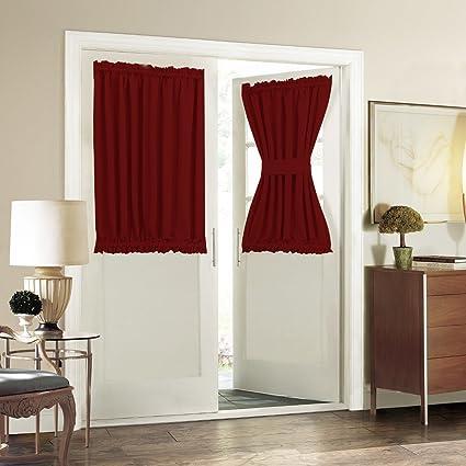 Amazon Rod Pocket French Door Curtain Aquazolax Blackout Door