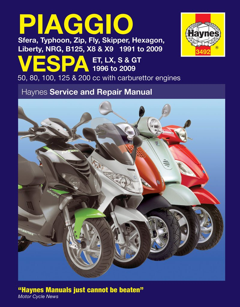 Vespa LX 50 LX125 LXV Repair Manual Haynes Service Manual Workshop Manual  2005-2009: Amazon.co.uk: Car & Motorbike