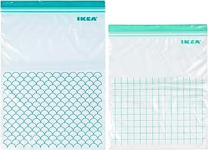 IKEA 803.392.81 Istad Plastic Freezer Bag, Turquoise, Light Turquoise