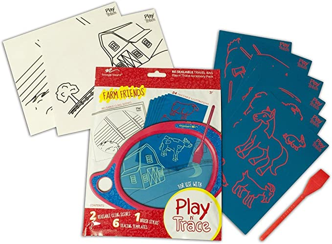 Boogie Board Play N' Trace Accessory Activity Pack, Farm Friends (ACPL10001)
