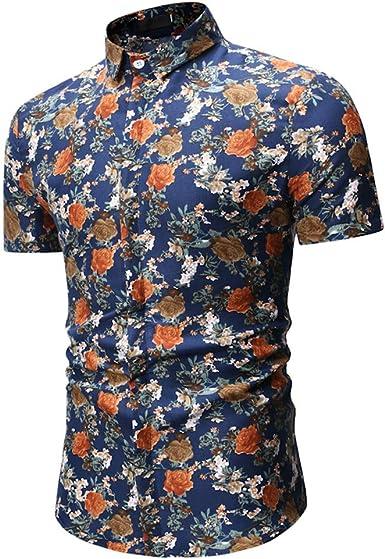 Casual tee Sales Yvelands Moda para Hombre Verano Hawaiano ...