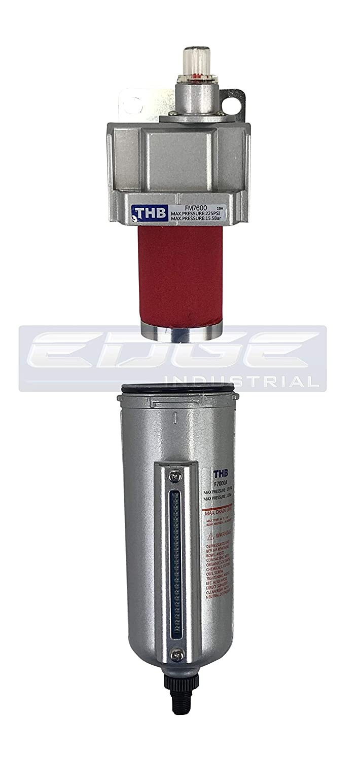 HEAVY DUTY INDUSTRIAL GRADE COALESCING FILTER WITH 0.01u MICRON ELEMENT VAPOR AND OIL FROM COMPRESSED AIR LINES 3//4 NPT, 11oz REMOVES 99.98/% MOISTURE METAL BOWL AUTO DRAIN