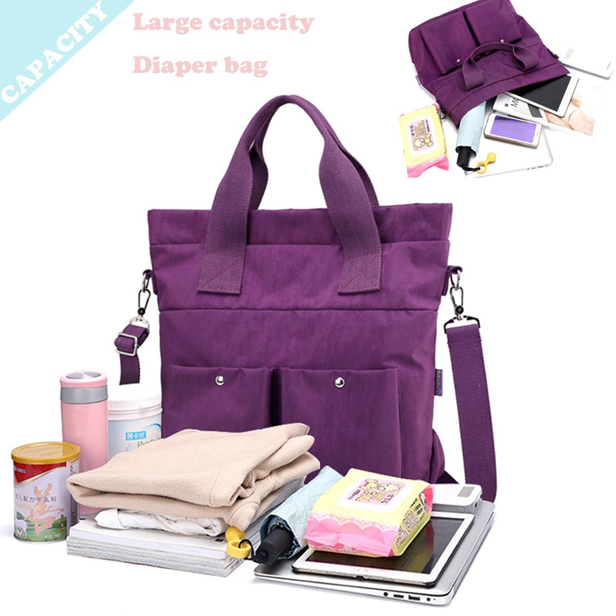 Women Nylon Shoulder Bag Satchel Handbag, Myhozee Water Repellent Travel Work Tote Bag Cross body Bag by Myhozee (Image #5)