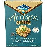 Blue Diamond Gluten Free Artisan Nut-Thins Cracker Crisps, Flax Seeds, 4.25 Ounce