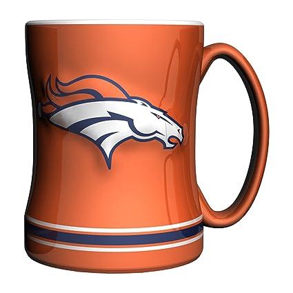NFL Denver Broncos esculpido Taza Color Alternativo de socorro b30170d5861
