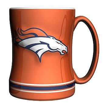 nfl denver broncos sculpted relief mug alternate color 14ounce orange - Denver Bronco Colors