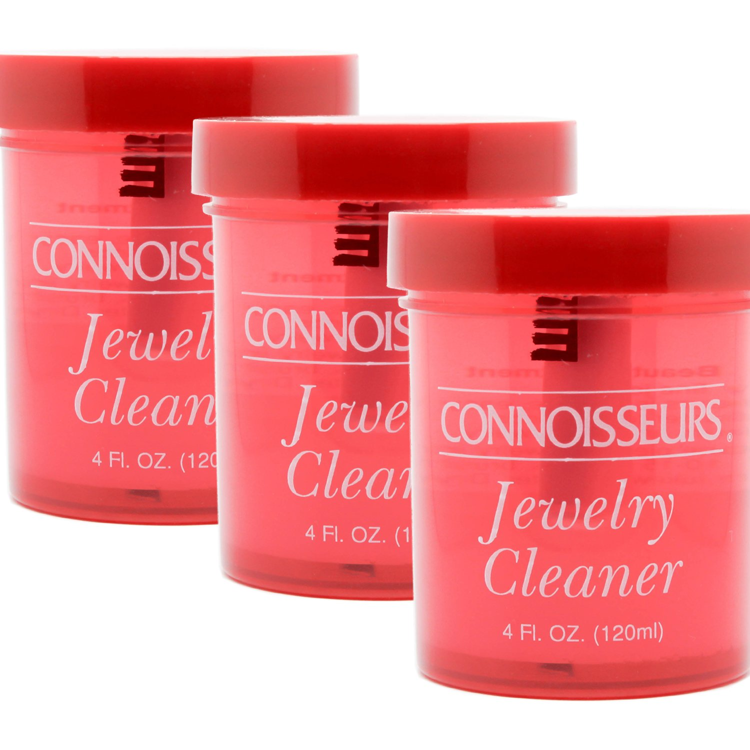Fine Precious Jewelry and Gem Cleaner by Connoisseurs 4 fl.oz. (Pack of 3)