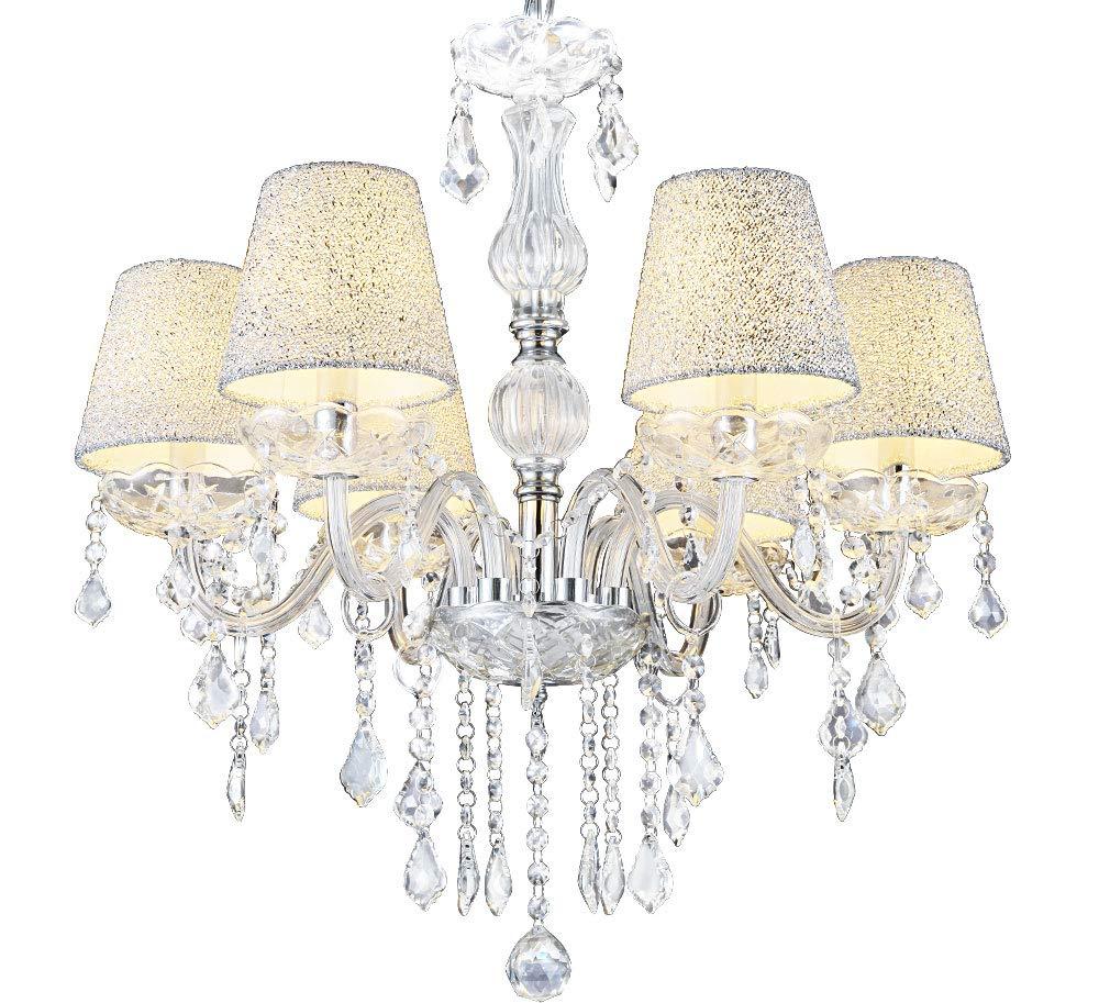 MELION-Ø60 cm Kristall Kronleuchter Deckenleuchter Lüster Leuchte Lampenschirme Lewima