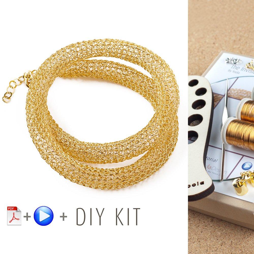 Amazon.com: Unique Jewelry Making Kit - 7 Long necklace pattern ...