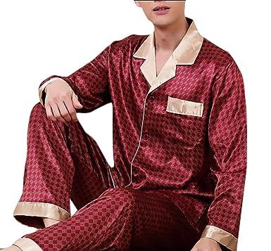 bf3ea86aa8 Pivaconis Mens Warm Silk Pajamas Set For Most Comfortable Sleepwear ...