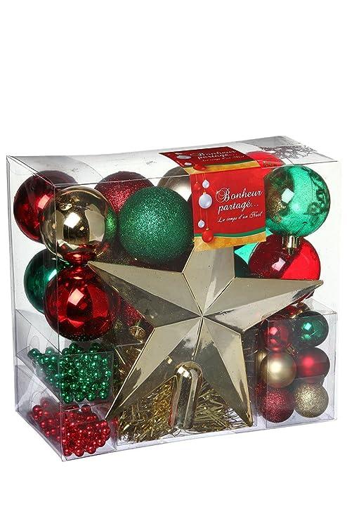 ADDOBBI NATALIZI: Kit di 44 pezzi per albero di Natale - Ghirlande ...