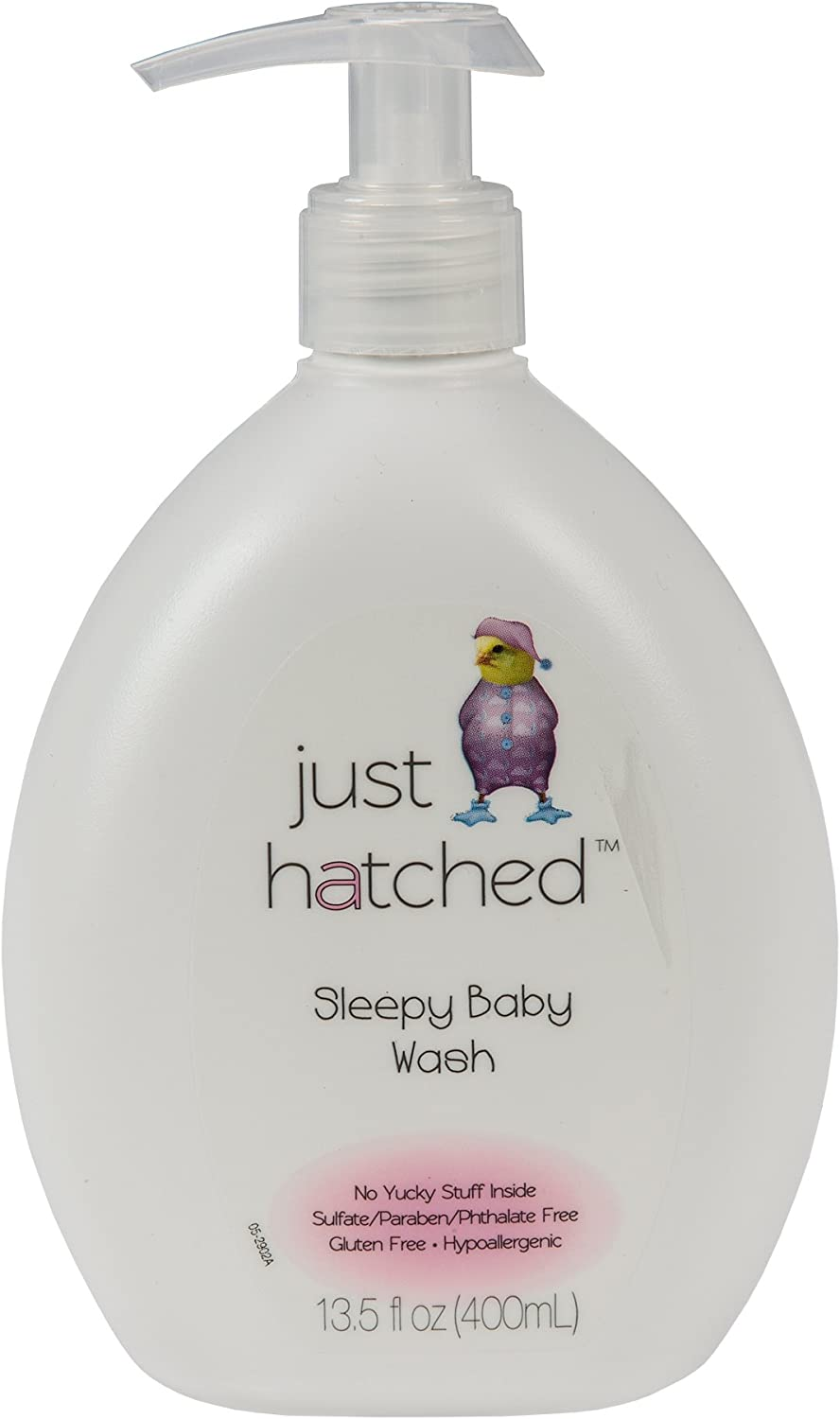 Just Hatched Sleepy Baby Wash, Made with Essential Oils, Relaxing, Calming, Moisturizing, Gluten Free, Hypoallergenic, 13.5 fl oz