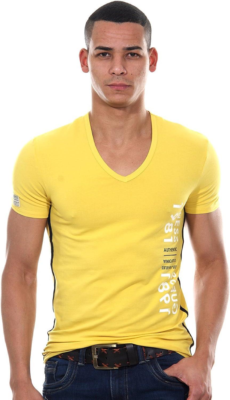 Guess Camiseta amarillo mostaza Staz uc7u2 a - Ropa