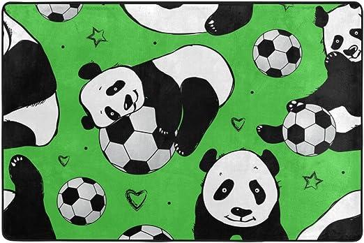 ALAZA Mi Diario Cute Panda y balón de fútbol Fútbol Zona Alfombra ...