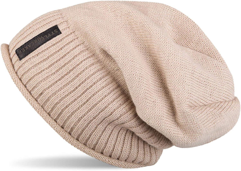 Unisex 04024065 styleBREAKER warme Feinstrick Beanie M/ütze mit sehr weichem Fleece Innenfutter