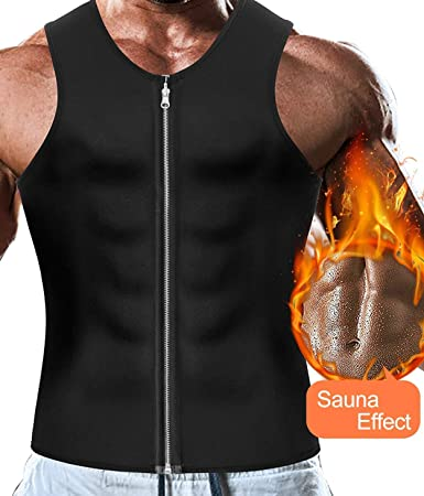 dce1c8d44d7a3 Image Unavailable. Men Waist Trainer Vest Hot Body Shaper Corset  Compression Top Sauna ...