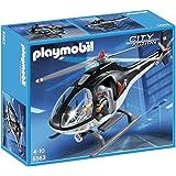 Playmobil - 5563 - Jeu De Construction - Hélicoptère Avec Policier